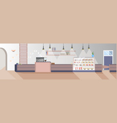 modern fast food restaurant empty no people vector image