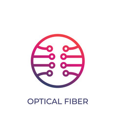 Optical fiber logo on white vector