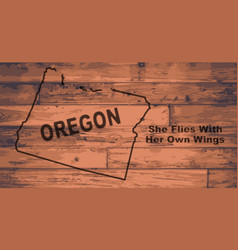 oregon map brand vector image