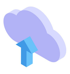 Outsource upload cloud icon isometric style vector