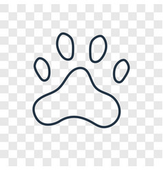 paw print concept linear icon isolated on vector image