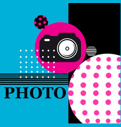 Poster sign camera for web design vector
