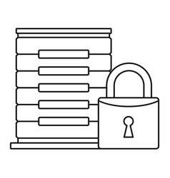 protected server icon outline style vector image
