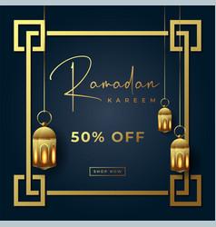 Ramadan kareem special sale banner background vector