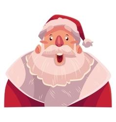 Santa Claus face surprised facial expression vector