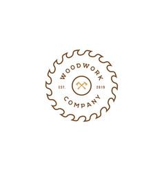Sawmill icon design templatewoodwork logo vector