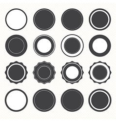 set blank retro vintage badges and labels vector image