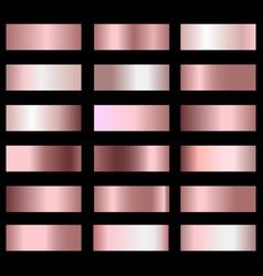 Set bronze foil texture gradation background vector