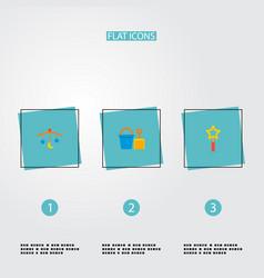 set of infant icons flat style symbols with magic vector image