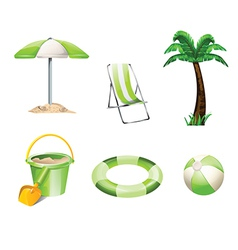 Summer objects vector