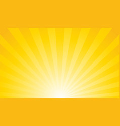 sunburst retro sun rays yellow background vector image