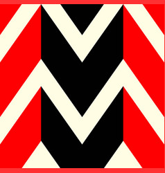The pattern in which red black and white lines vector