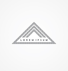 three side triangle theme dot logotype vector image