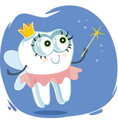 tooth fairy cartoon design vector image