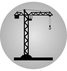 Tower crane - icon isolated vector image