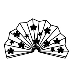 traditional japanese fan isolated vector image