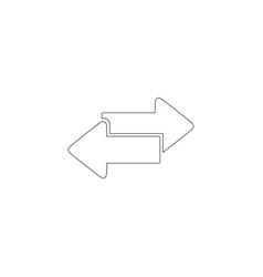 two arrow flat icon vector image
