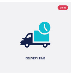 Two color delivery time icon from delivery and vector