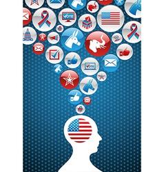 USA political elections vector image