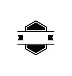 vintage badge retro blank labels logo vector image