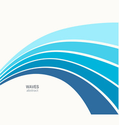 Water wave abstract design vector