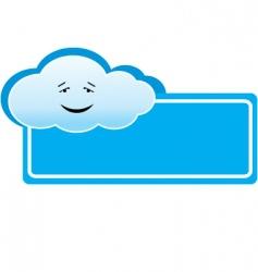 cloud banner vector image vector image