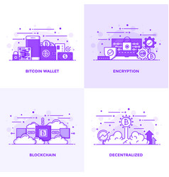 Flat line purple designed concepts 18 vector