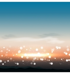 Natural background with sunset in vector image