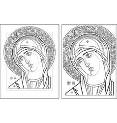 Virgin Oplechnaya outline3 4 vector image vector image