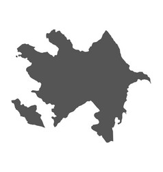 azerbaijan map black icon on white background vector image