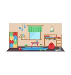 Boy baby room set vector image vector image