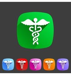 health medicine pharmacy icon badge flat symbol vector image