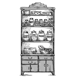 Kitchen cupboard vector image