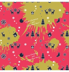 seamless colorful Christmas pattern vector image