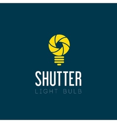 Shutter Light Bulb Abstract Symbol Icon vector image vector image