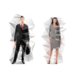 business man and lady vector image