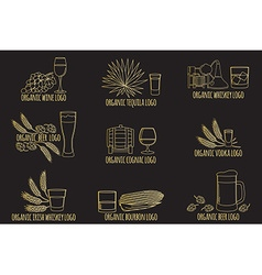 Elements on the theme of the restaurant business vector image vector image