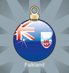 Falkland flag on bulb vector image
