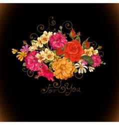 Floral ornament vintage vignette vector image vector image