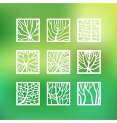 Leaves icons set vector