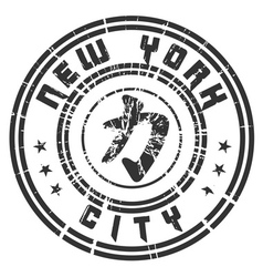 T shirt New York Character Power Force grunge vector image vector image