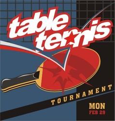 table tennis logo poster vector image vector image