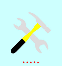 wrench and hammer set it is color icon vector image