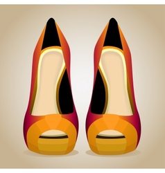 A High-Heeled Shoes Isolated vector image