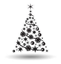 Christmas tree isolated Abstract design logo vector image