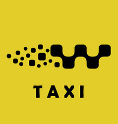 Taxi logo sign car shape vector image