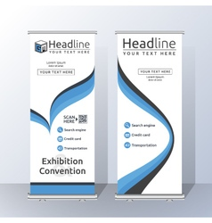 Vertical Roll Up Banner Template Design vector image vector image