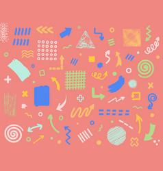 abstract hand drawn set vector image