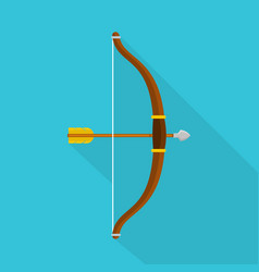 Accuracy bow icon flat style vector