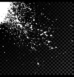 Acrylic white explosion paint splatter small vector